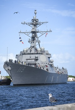 """""""Navy to Commission Guided Missile Destroyer Delbert D. Black"""""""
