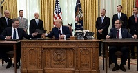 """""""REMARKS BY PRESIDENT TRUMP, PRESIDENT VUČIĆ OF THE REPUBLIC OF SERBIA, AND PRIME MINISTER HOTI OF THE REPUBLIC OF KOSOVO IN A TRILATERAL MEETING"""""""